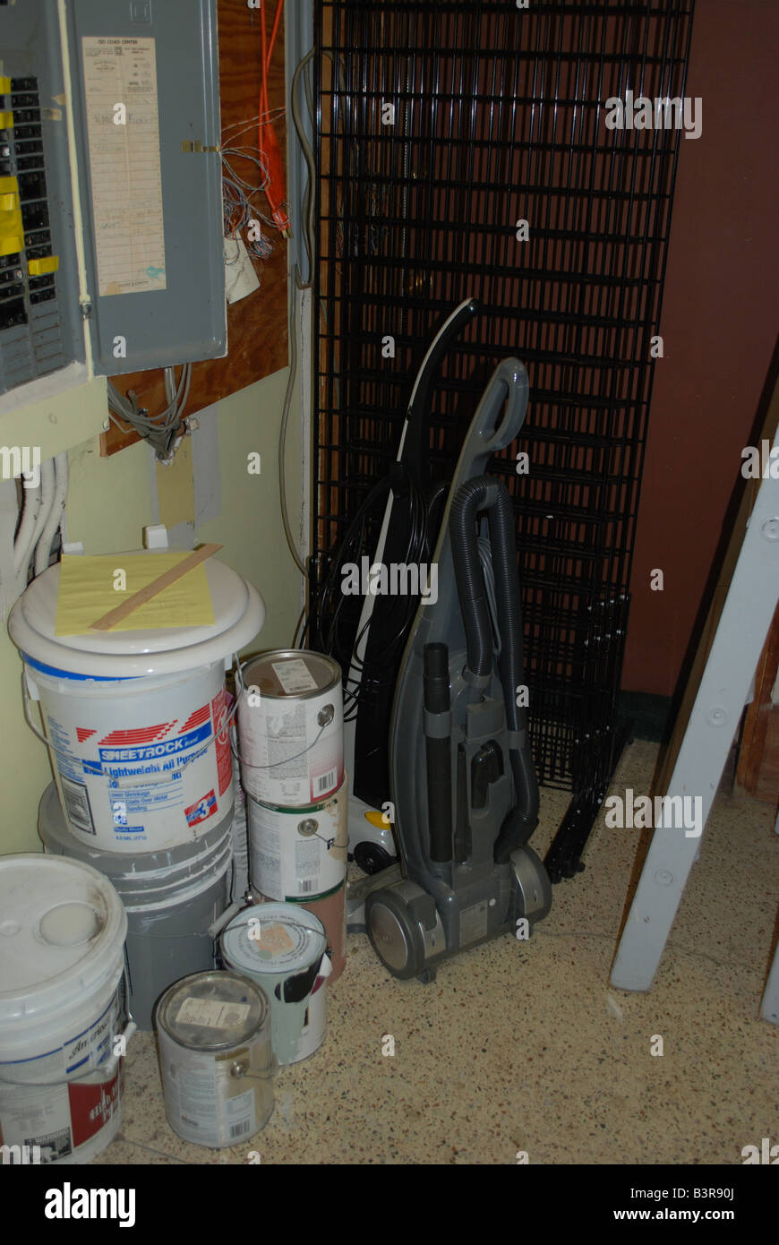 Supplies In A Janitoru0027s Closet   Stock Image