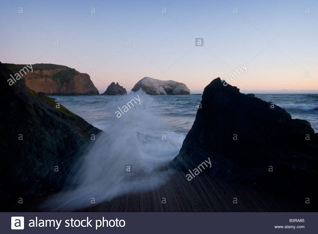 Rodeo Beach GGNRA Marin Headlands California - Stock Image