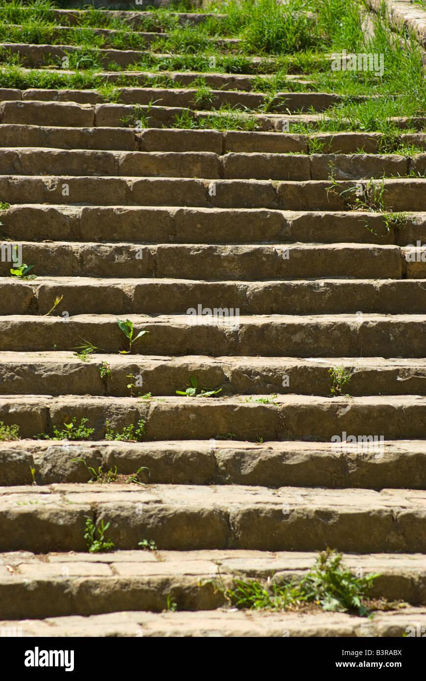 Stairway in Volterra Tuscany Italy Stock Photo