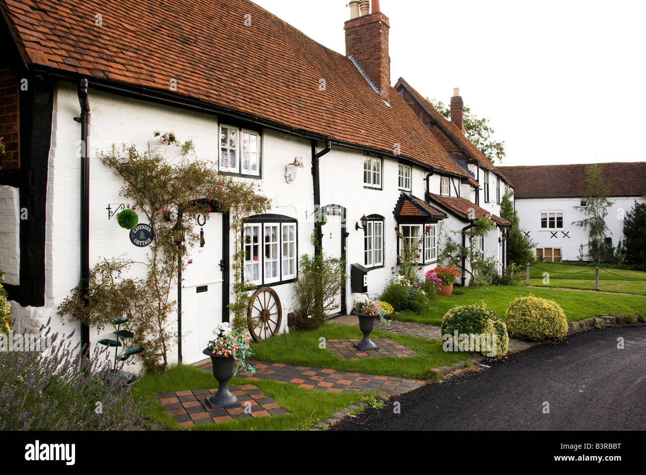 Traditional Black And White English Village Houses