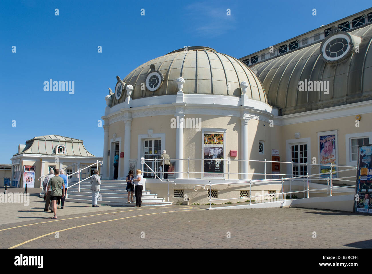Pavilion Theatre exterior on Worthing seafront West Sussex England - Stock Image