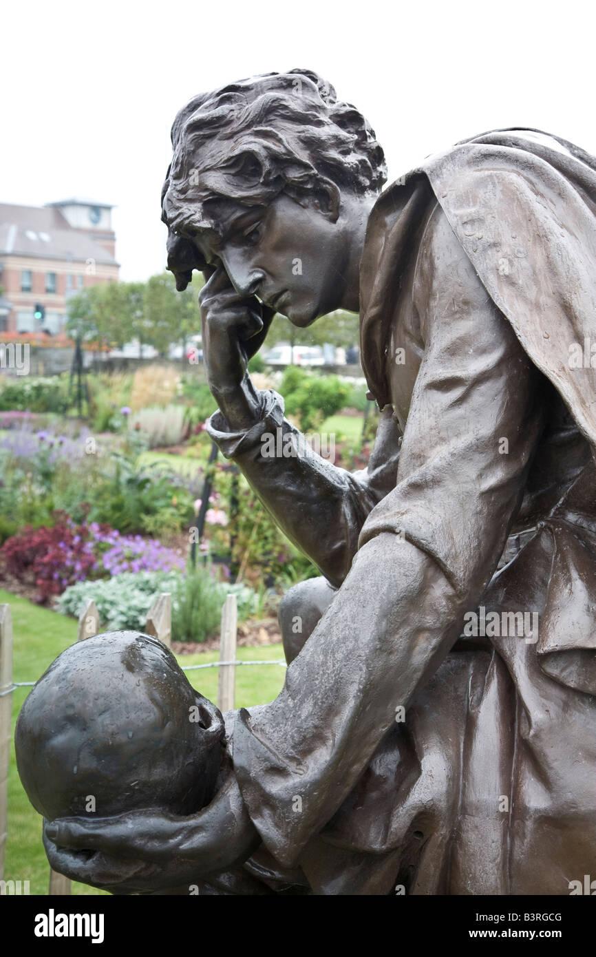 Hamlet Statue Stock Photo