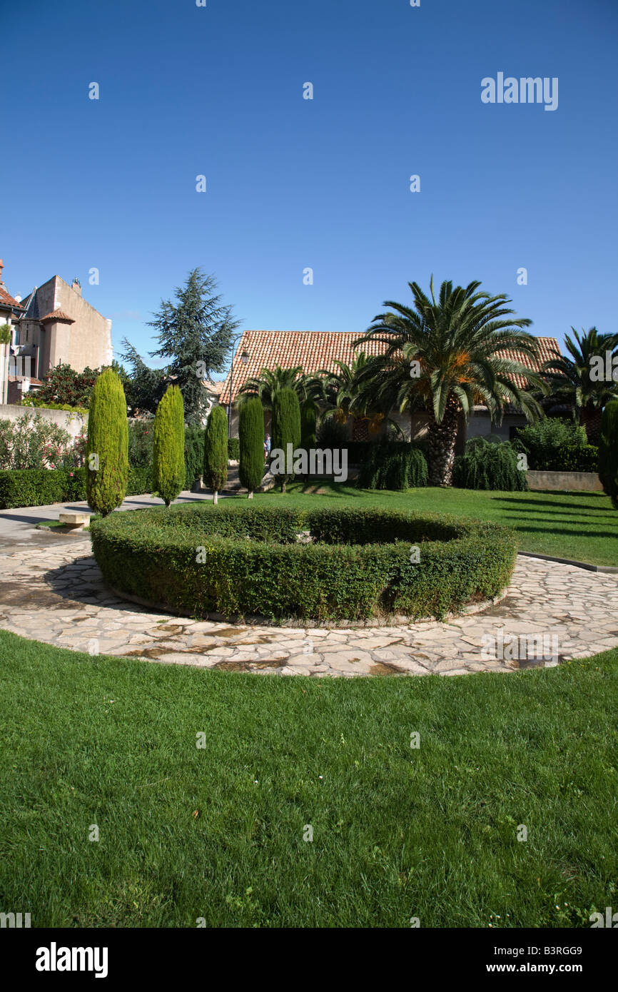 The Jardin des Vicomptes and the Poudrière at Narbonne - Stock Image