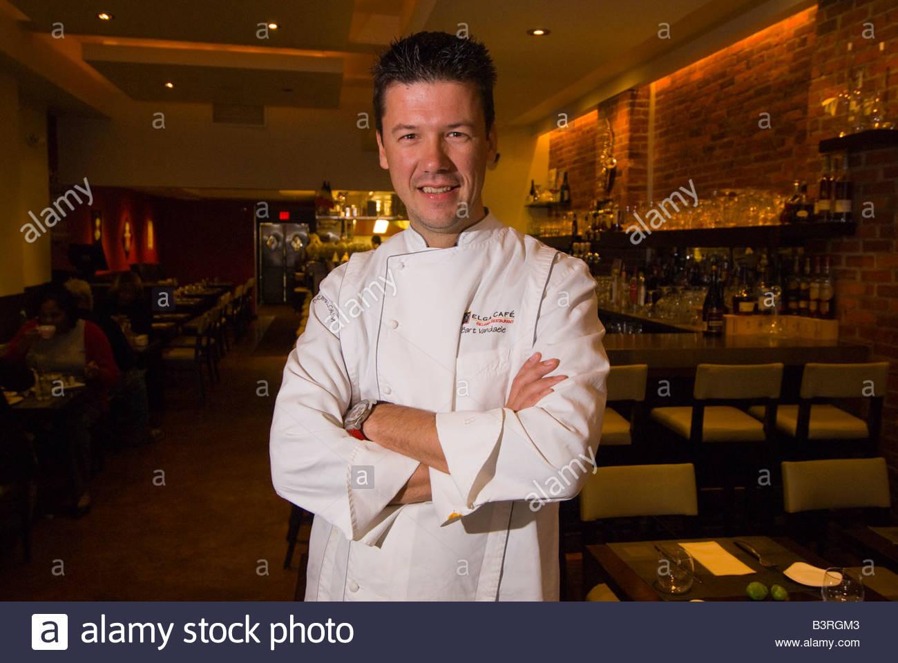 Chef Bart Vandaele Belga Cafe Washington D C U S A Stock Photo
