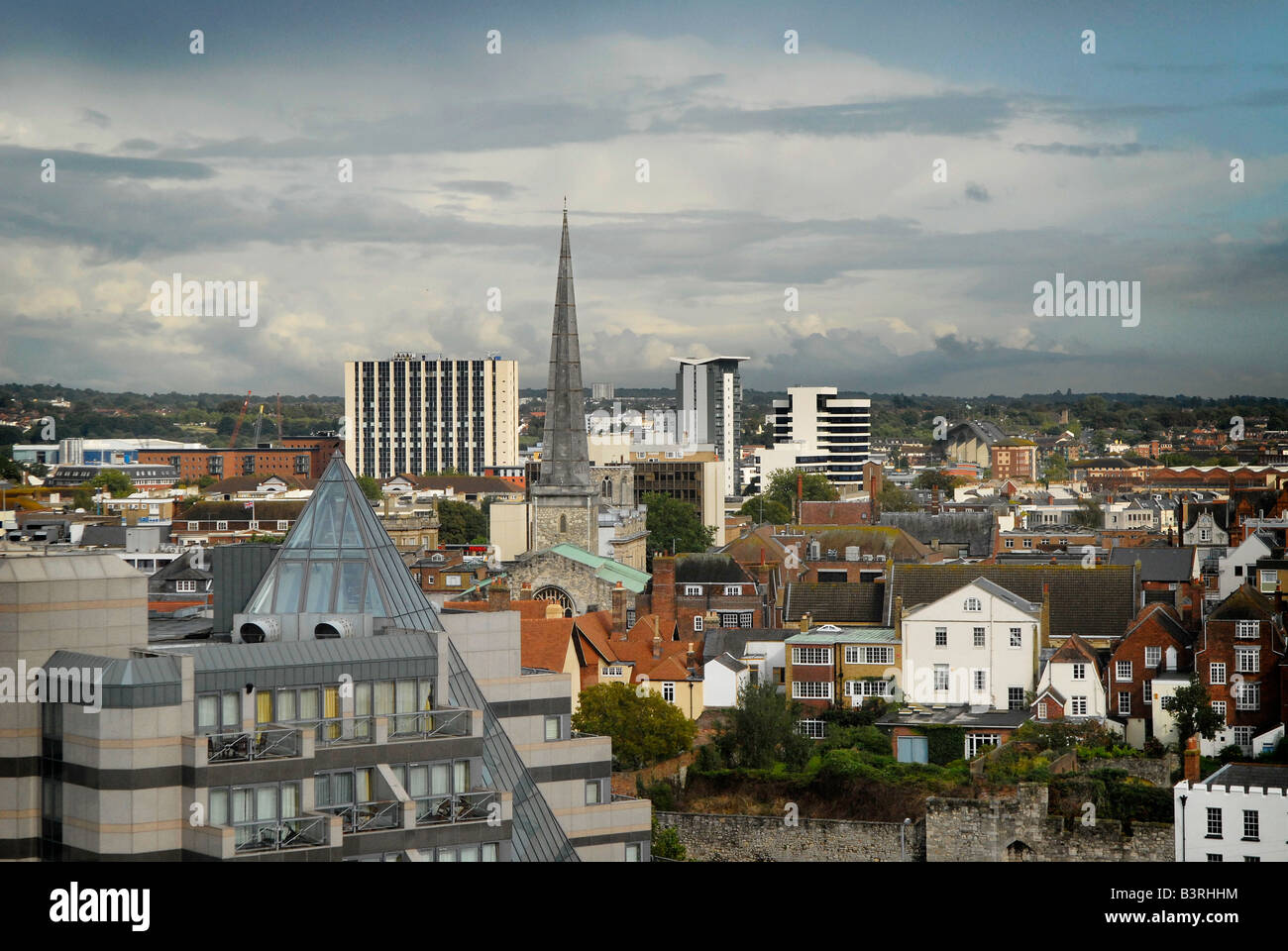 Southampton skyline during a late summer afternoon - Stock Image