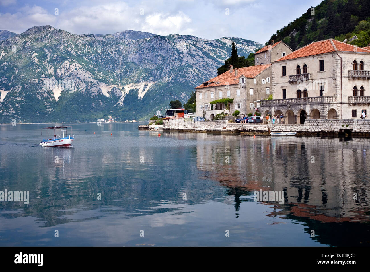 Risan Bay of Kotor Montenegro Europe - Stock Image
