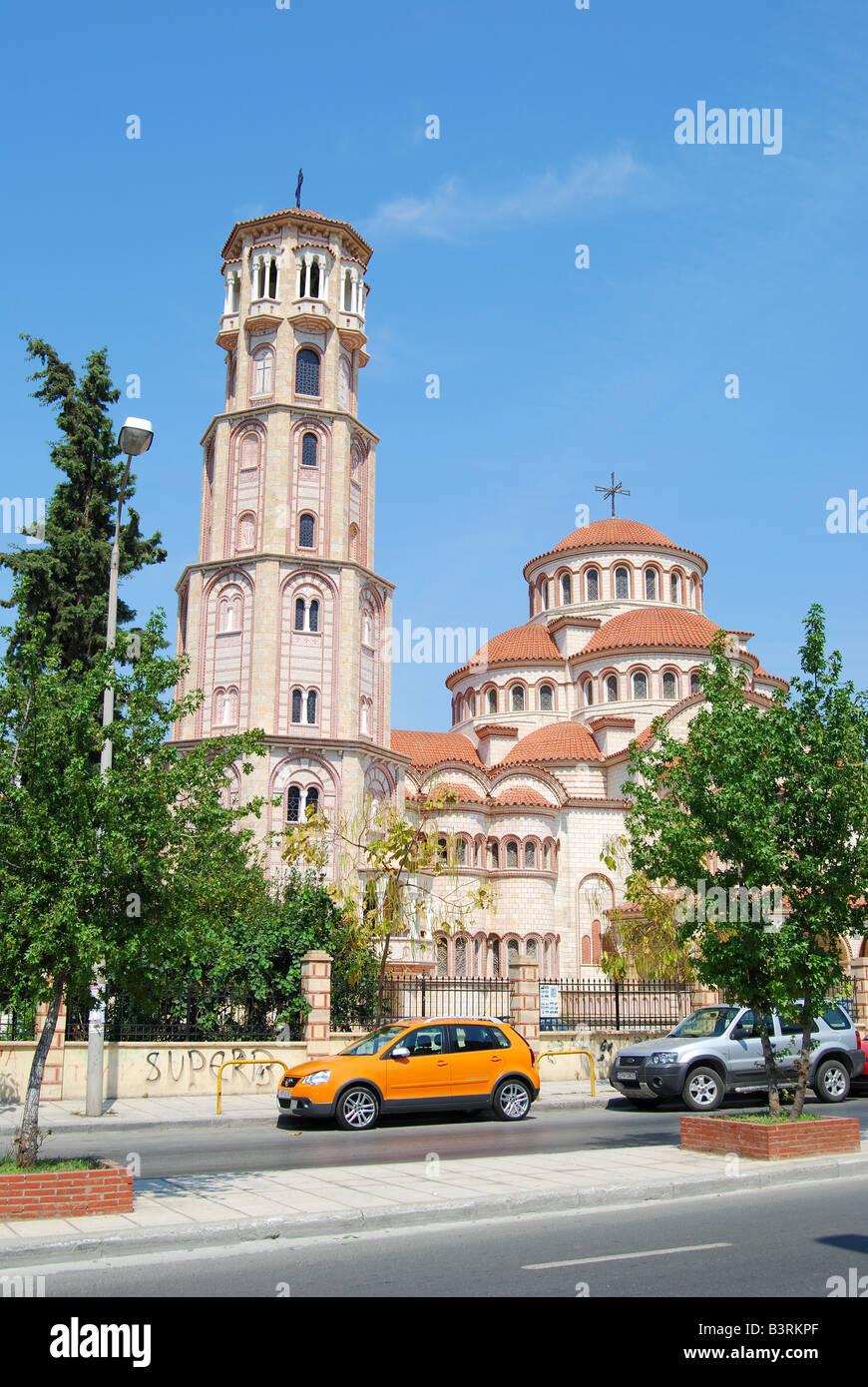 Trion Ierarchon Greek Orthodox Church, Thessaloniki, Chalkidiki, Central Macedonia, Greece Stock Photo