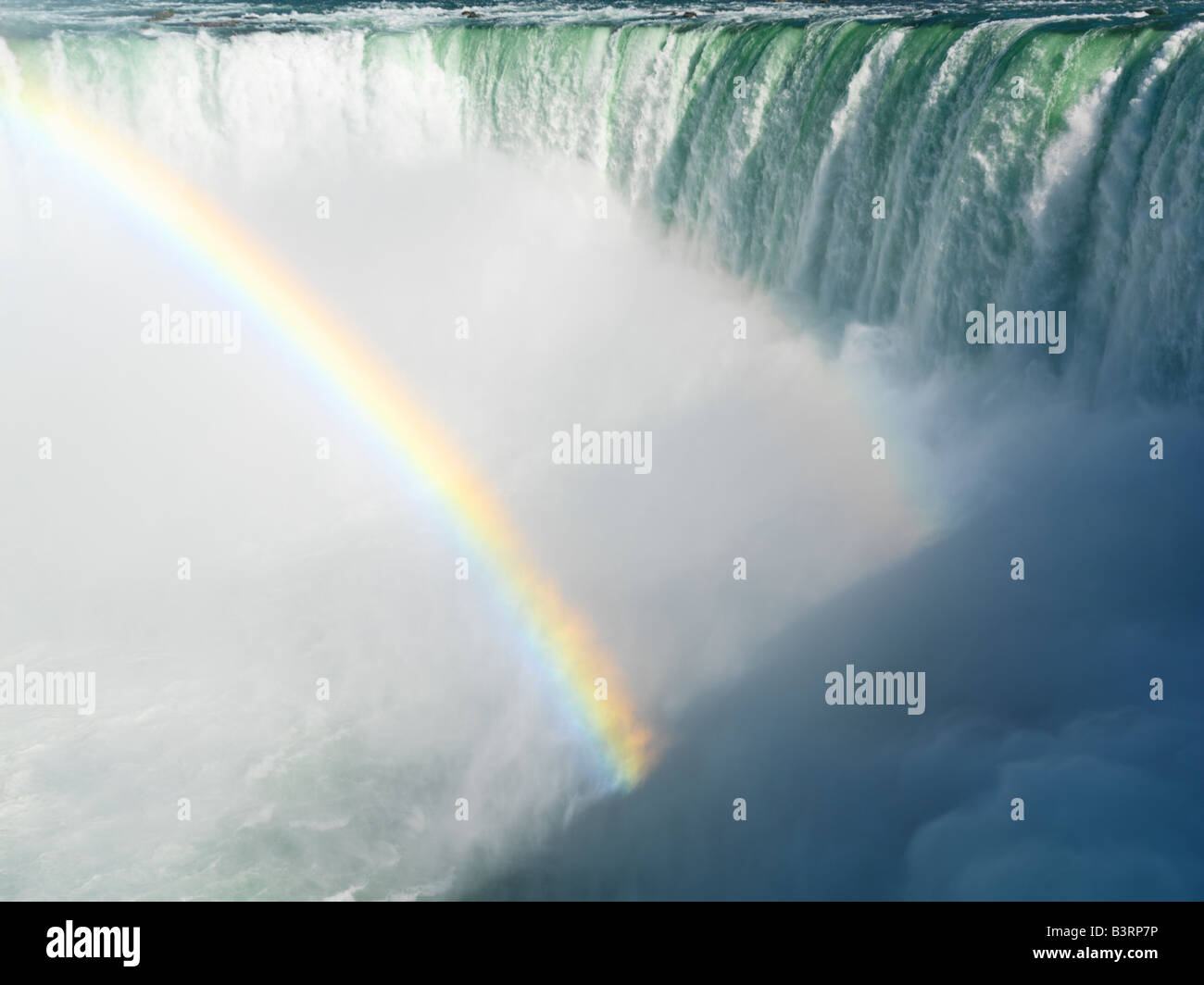 Canada,Ontario,Niagara Falls,Canadian Falls with a rainbow - Stock Image