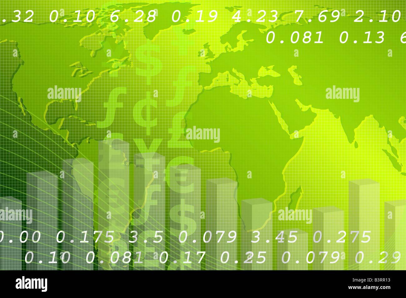 Global economy - Stock Image