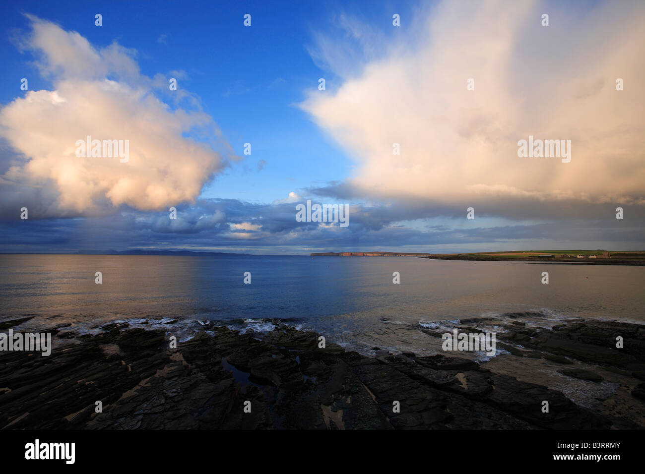 Looking across the Pentland Firth from Thurso Caithness Scotland - Stock Image