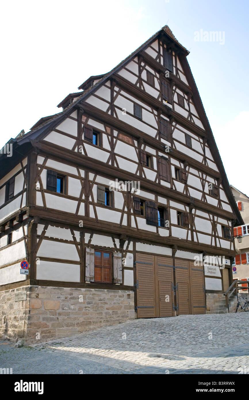 Deutschland, Bayern, Dinkelsbuehl, Old town of Dinkelsbuehl, Bavaria, Germany Stock Photo