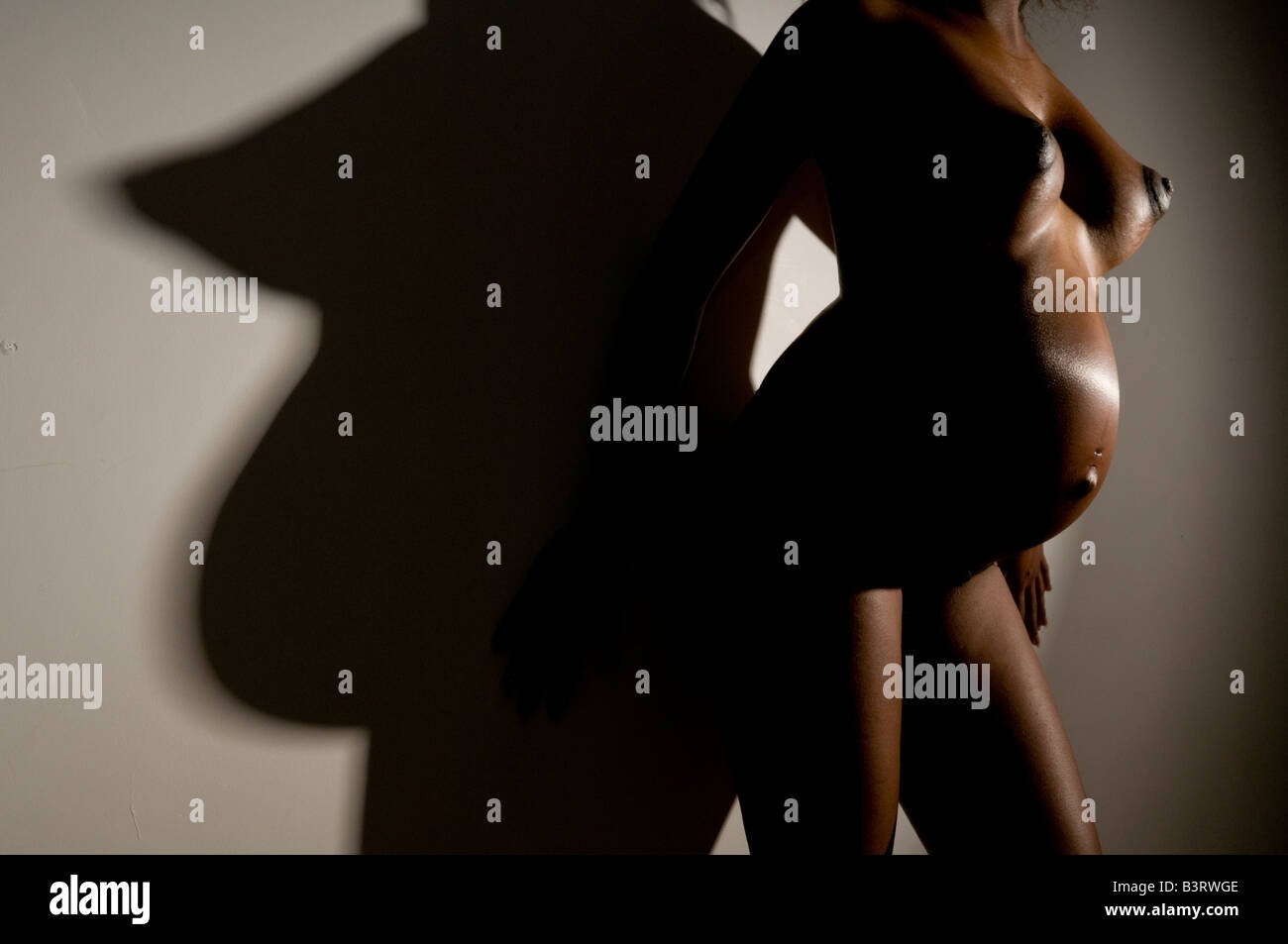 Breasts Pregnant belly nude and