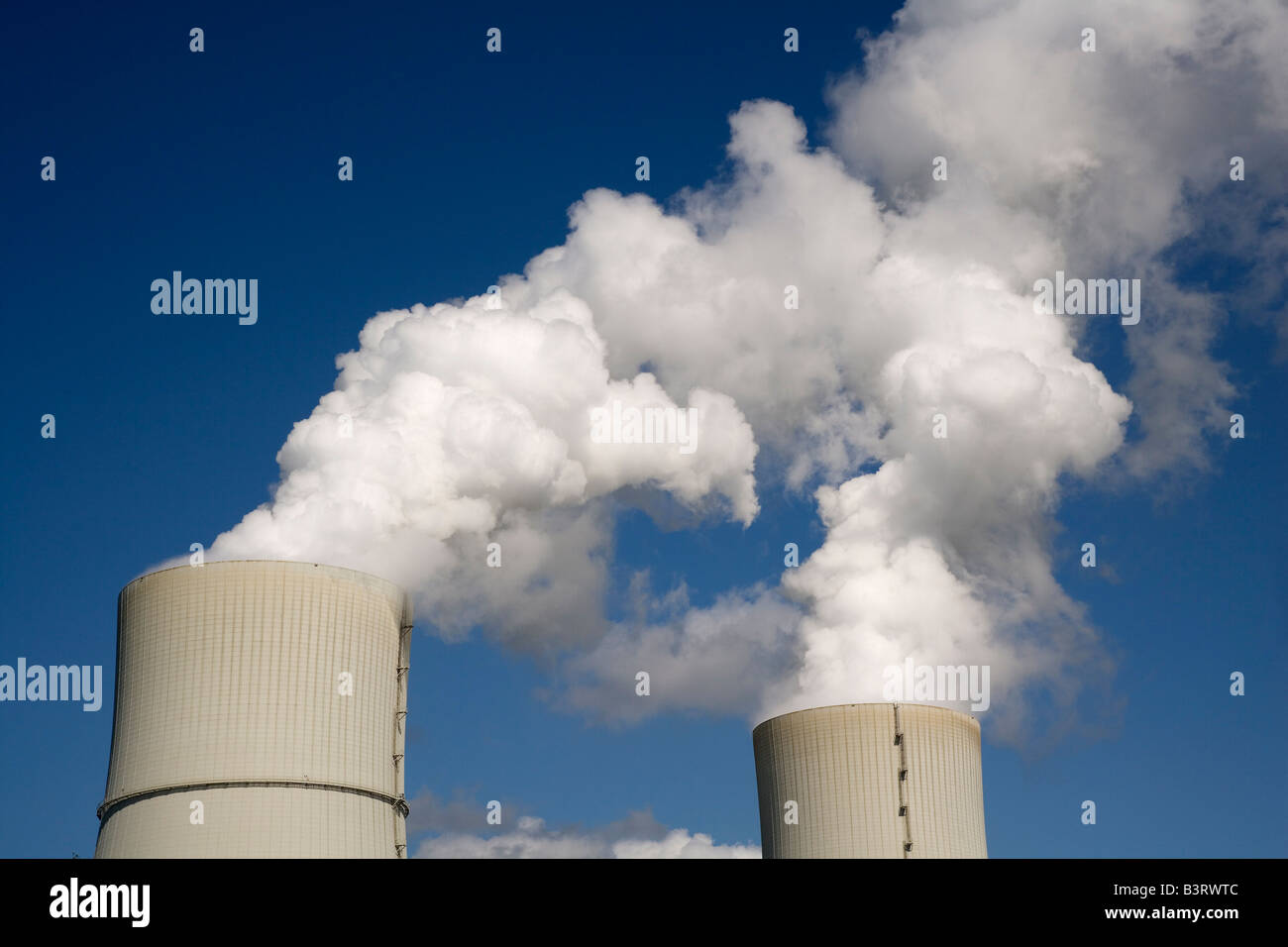 First brown coal power plant in the world with carbon dioxide separation via CCS technology Carbon Capture and Storage - Stock Image