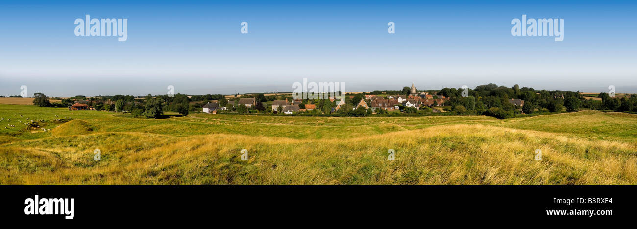 english village in winter yelden bedfordshire home counties england uk europe - Stock Image