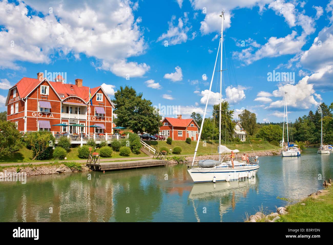 SWEDEN ÖSTERGÖTLAND BORENSBERG GÖTA HOTEL GÖTA CANAL Stock Photo