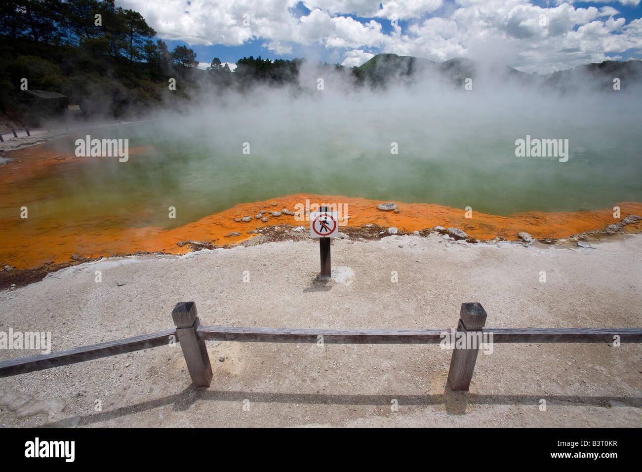 Champagne Pool, Wai-O-Tapu, North Island, New Zealand - Stock Image