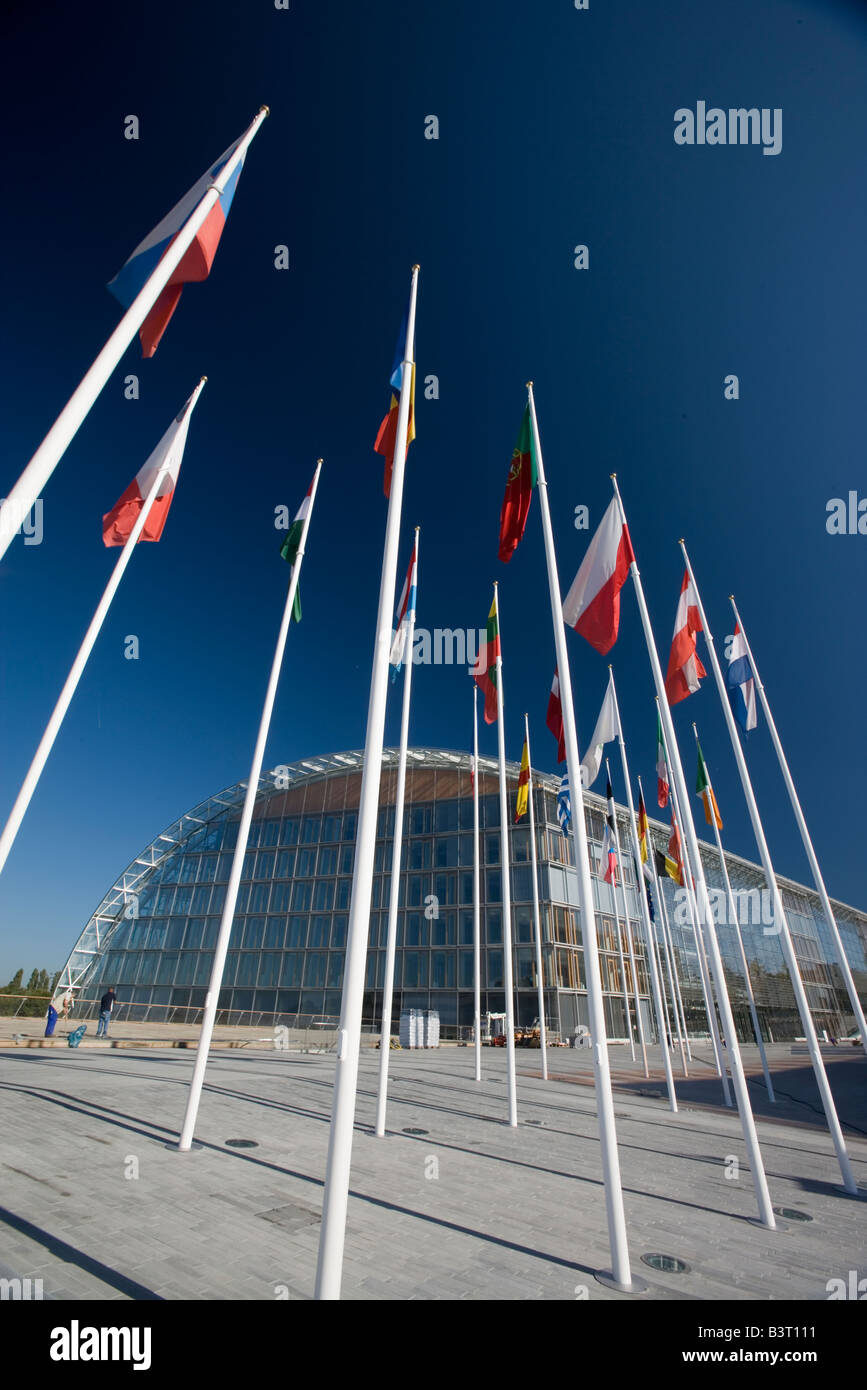 Luxembourg Kirchberg European Investment Bank EIB - Stock Image