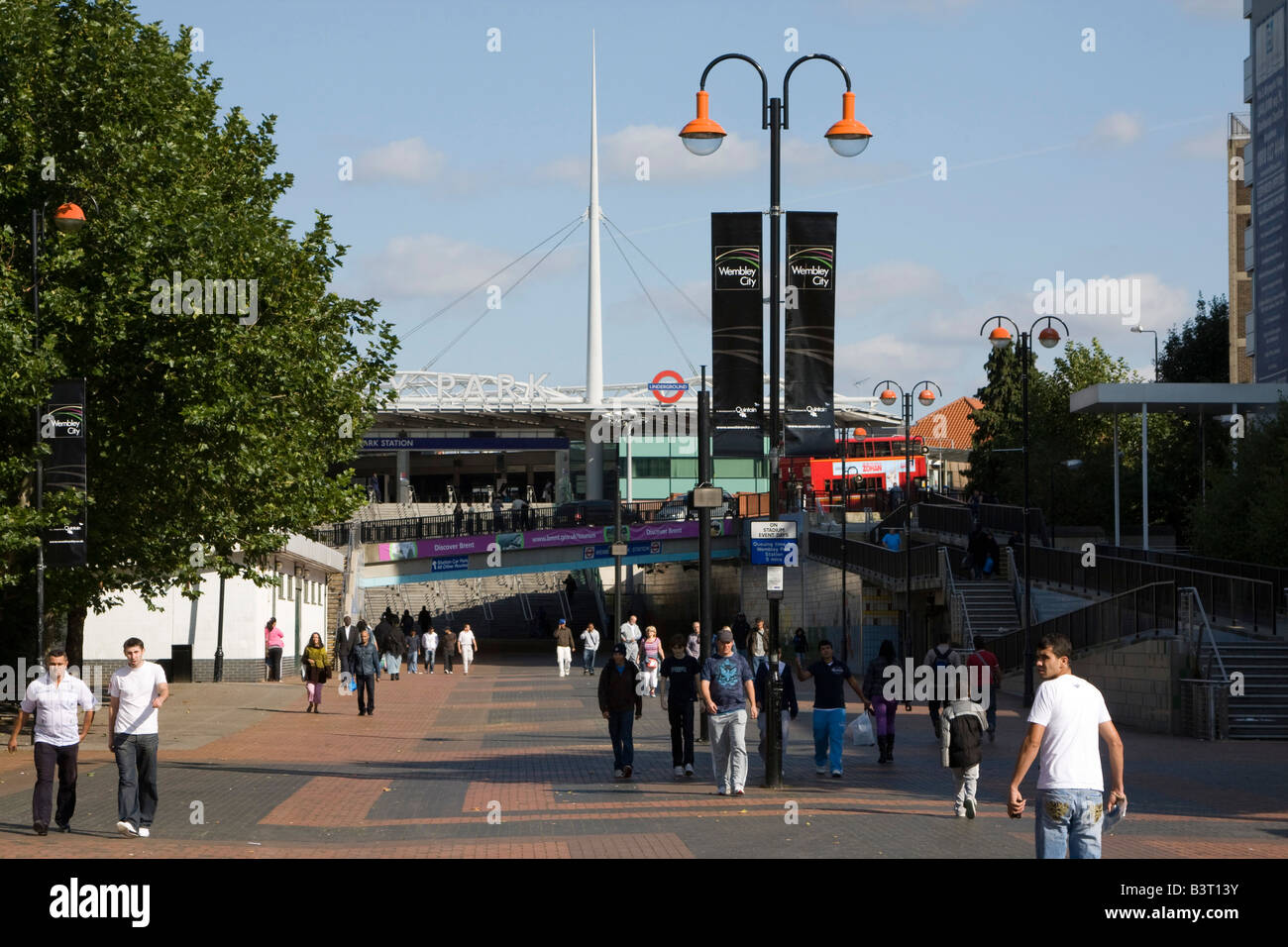olympic way wembley stadium brent london england uk gb - Stock Image