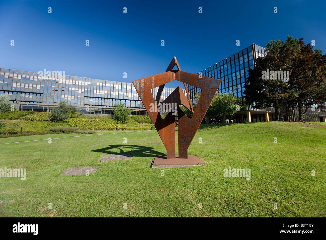Luxembourg Kirchberg Europe quarter European court of justice - Stock Image