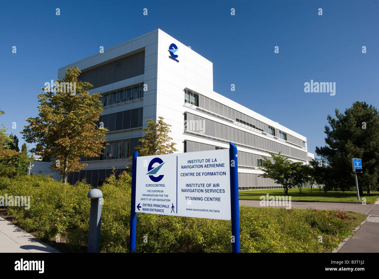 Luxembourg town Europe quarter Eurocontrol Institute of Air navigation services Institut de la Navigation aerienne - Stock Image