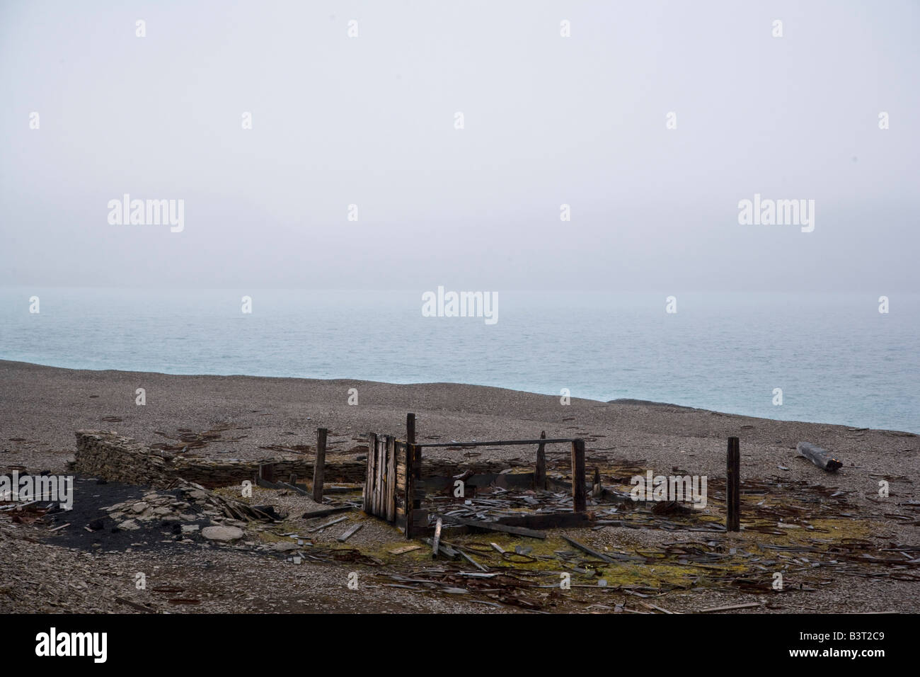 Remains of the Northumberland House, Sir John Franklin Expedition, Nunavut, Canada - Stock Image