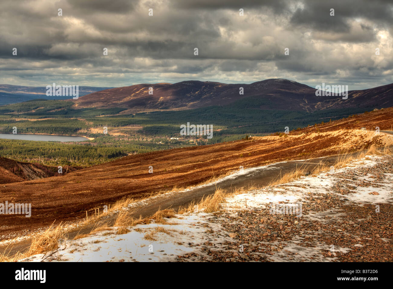 View of the Cairngorm mountains in Scotland. - Stock Image