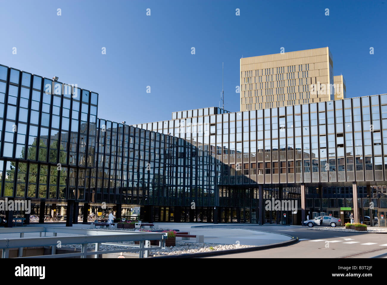 Luxembourg Kirchberg Europe quarter European commission - Stock Image