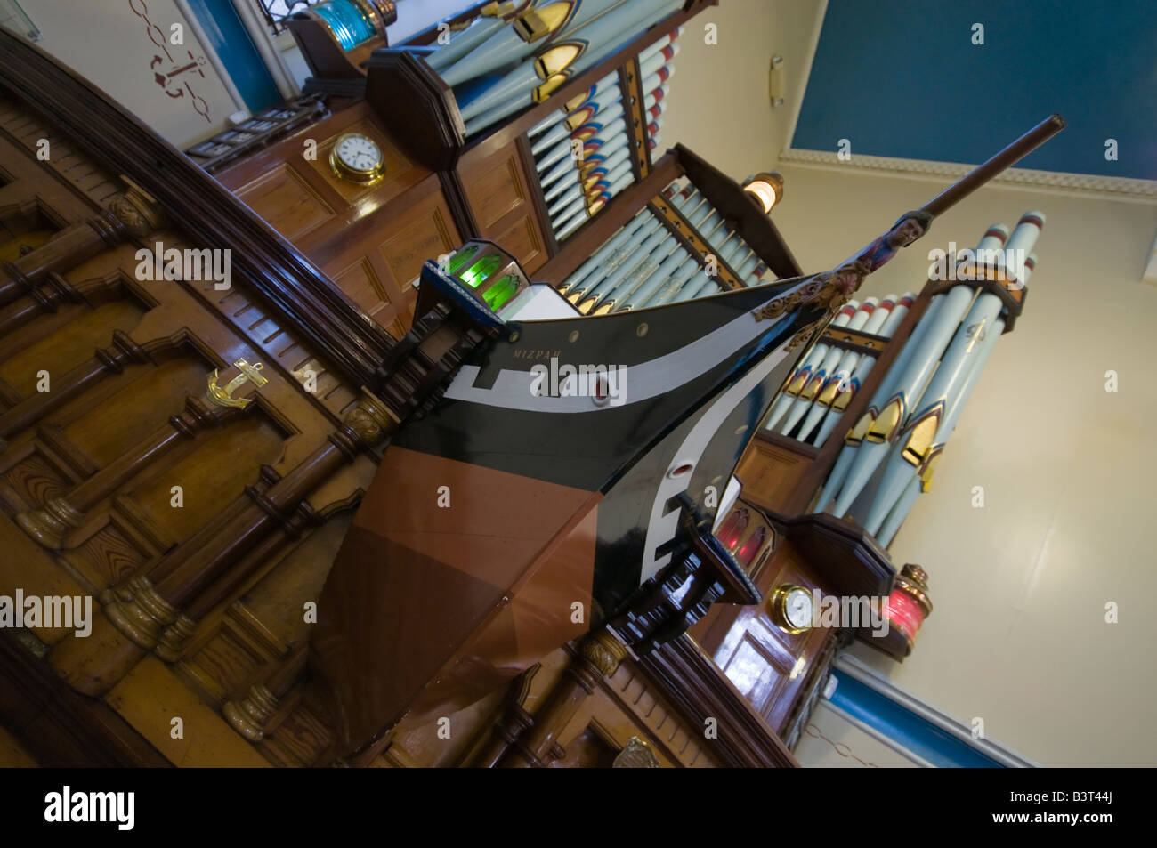 Ship Shaped Pulpit of the Sinclair Seamens Presbyterian Church, Belfast - Stock Image