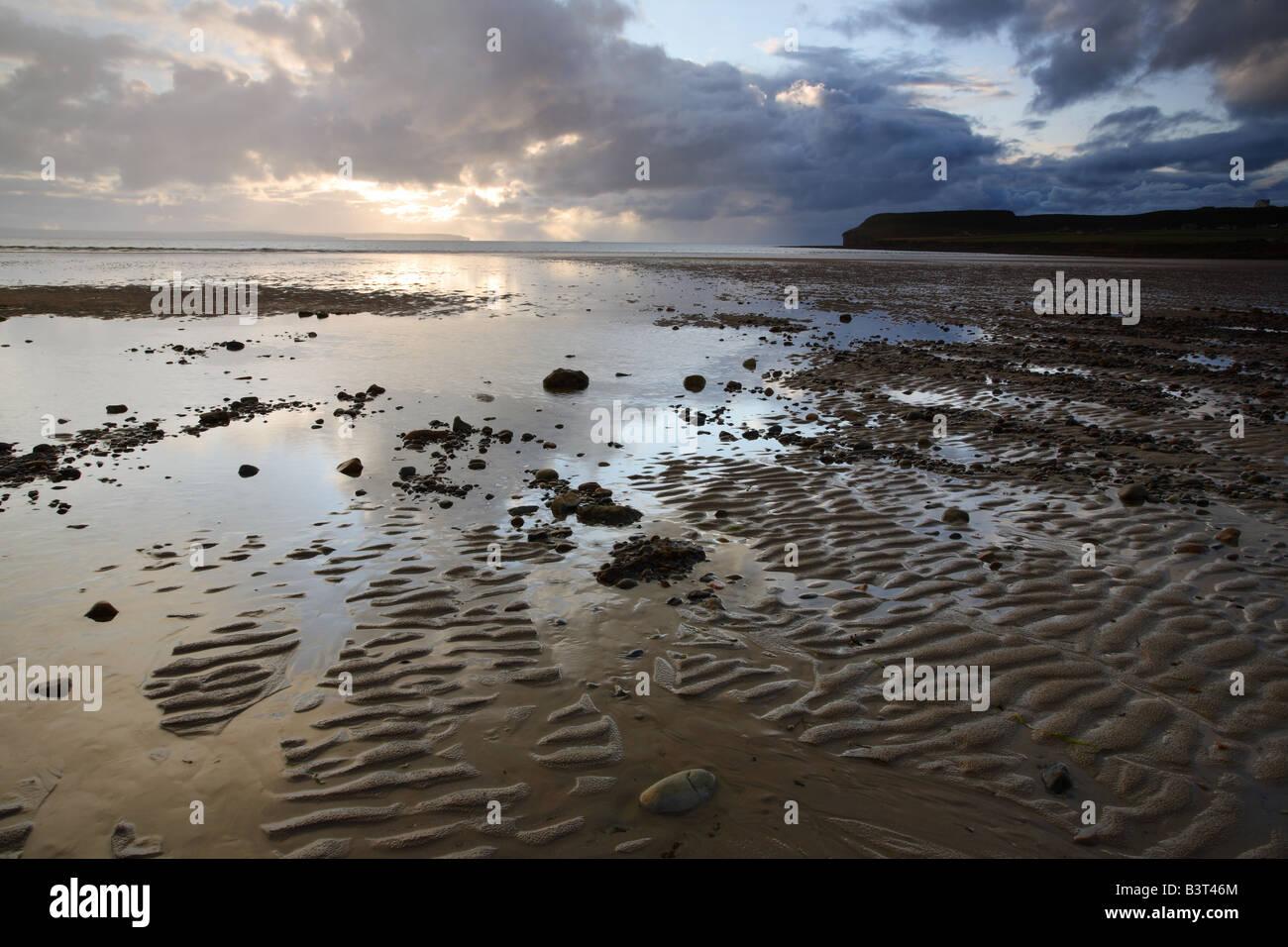 Dunnet Bay from Dunnet near Thurso Caithness Scotland - Stock Image