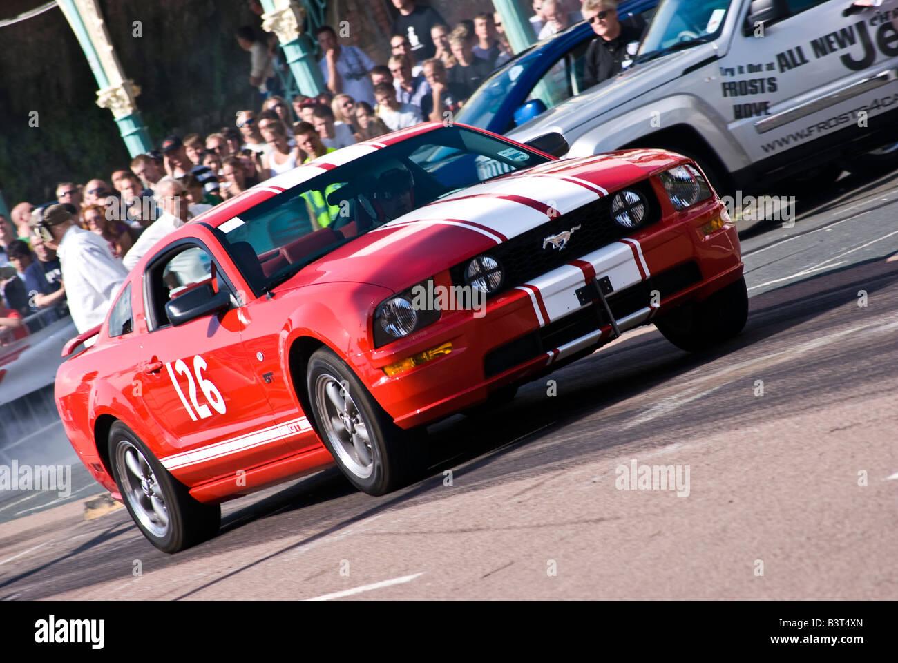 Ford Gt Drag Racer Speeds Off The Start Line Stock Image