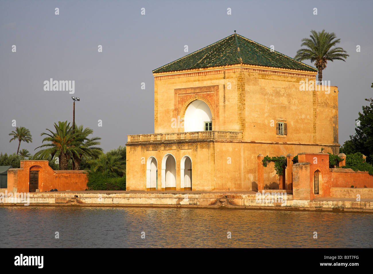Morocco The Jardin Menara Provides A Peaceful Haven On The Edge Of