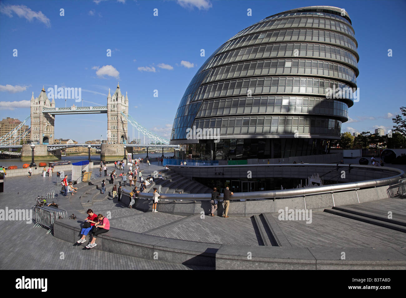 England, London, City Hall on London's south bank, designed by Sir Norman Foster. - Stock Image