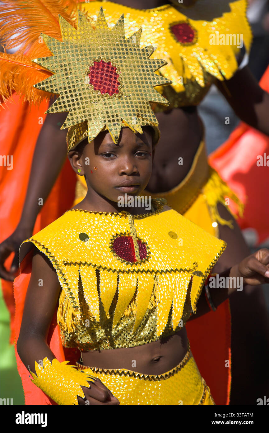 England, London, Notting Hill. Colourful costumes in the Notting Hill Carnival. - Stock Image