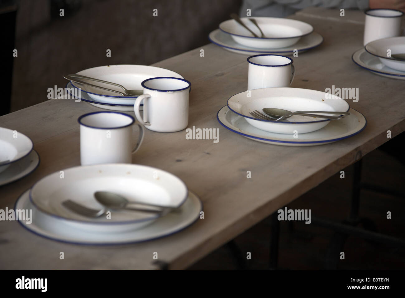 Mess Table Weymouth UK - Stock Image