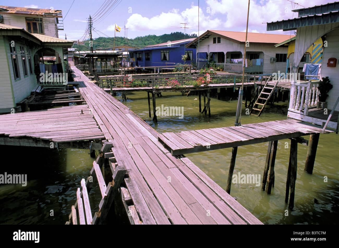 Asia, Brunei, Bandar Seri Begawan. Sidewalks in capitol. - Stock Image