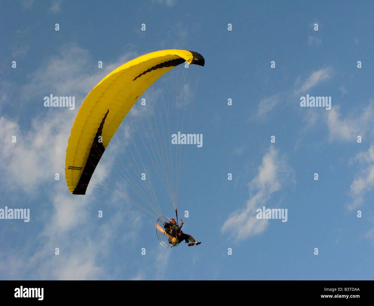 motor glider powered paraglider - Stock Image