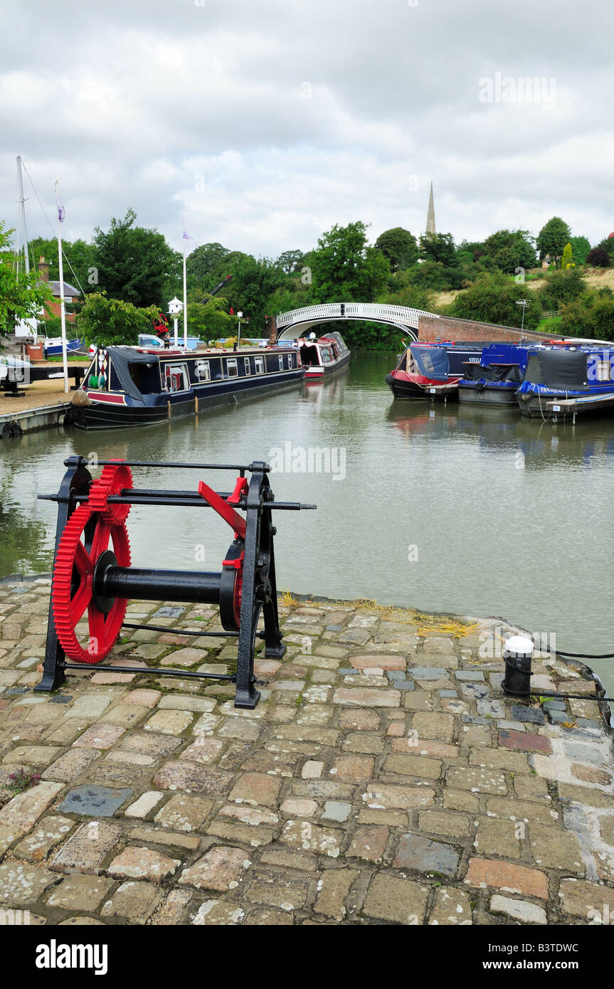 View of Braunston Marina on the Grand Union Canal - Stock Image