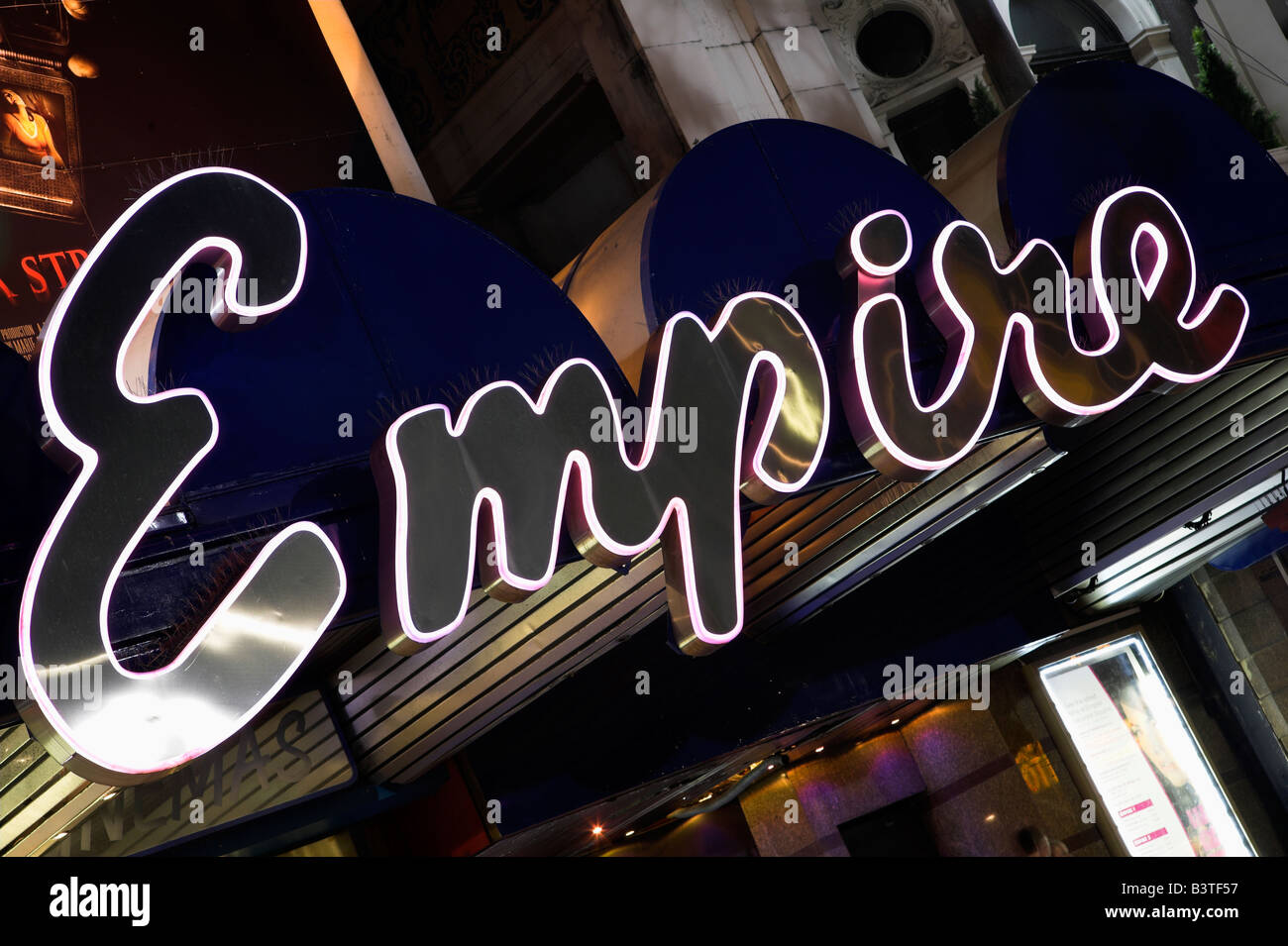 England, London, Leicester Square. The Empire cinema in Leicester Square, the heart of the West End. - Stock Image