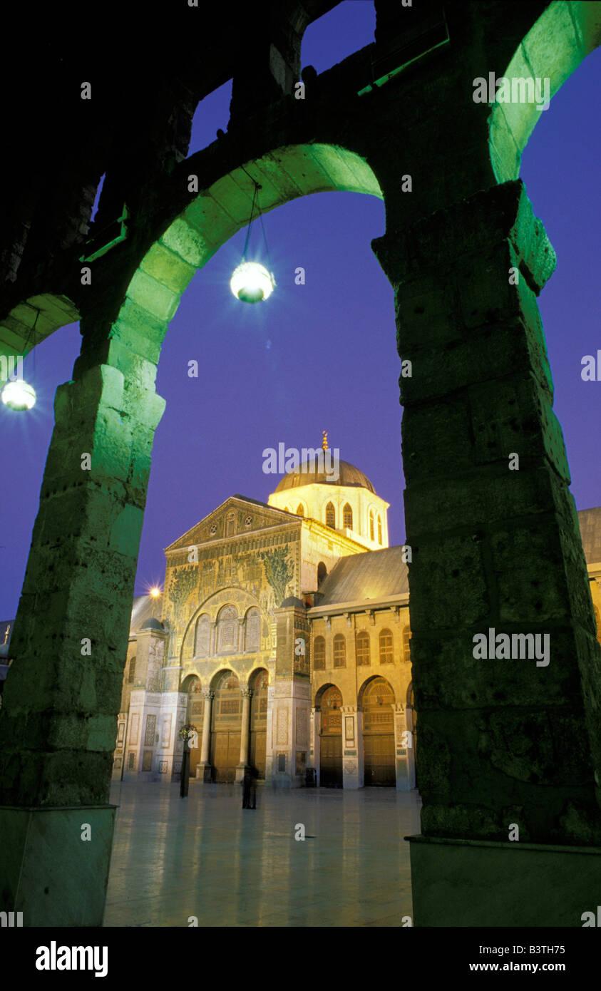 Asia, Syria, Damascus. Umayyad Mosque. - Stock Image