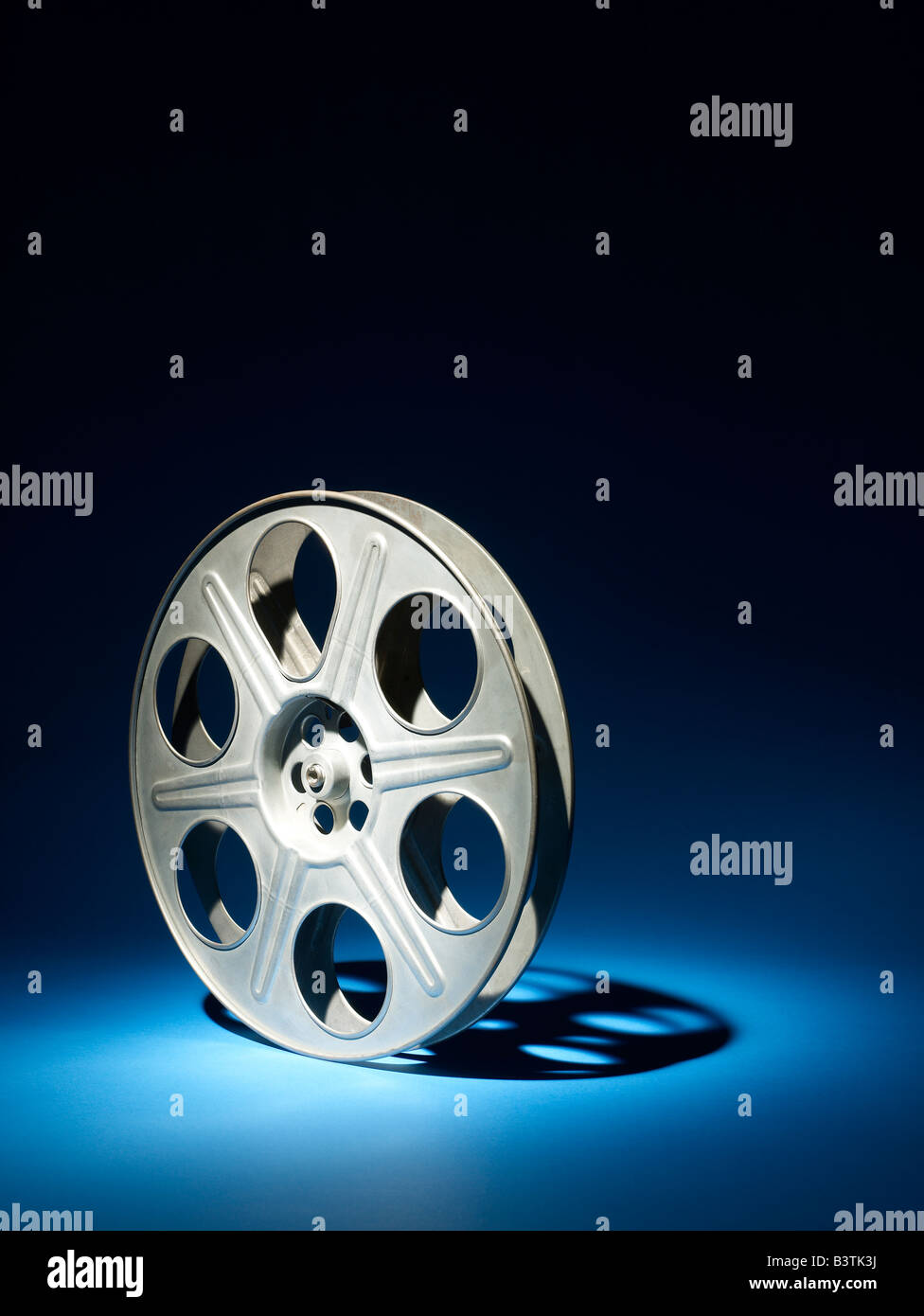 35mm Film reel vertical - Stock Image