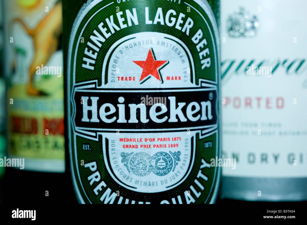 Heineken Beer Bottle Stock Photos