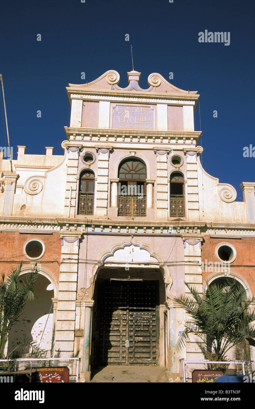 Asia, Yemen, Tarim. Sultan Palace. - Stock Image