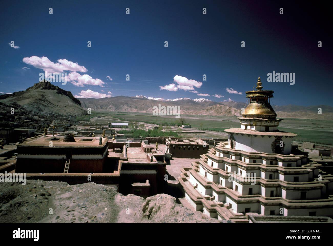 Tibet, Gyantse. Palkhor Monastery. Stock Photo