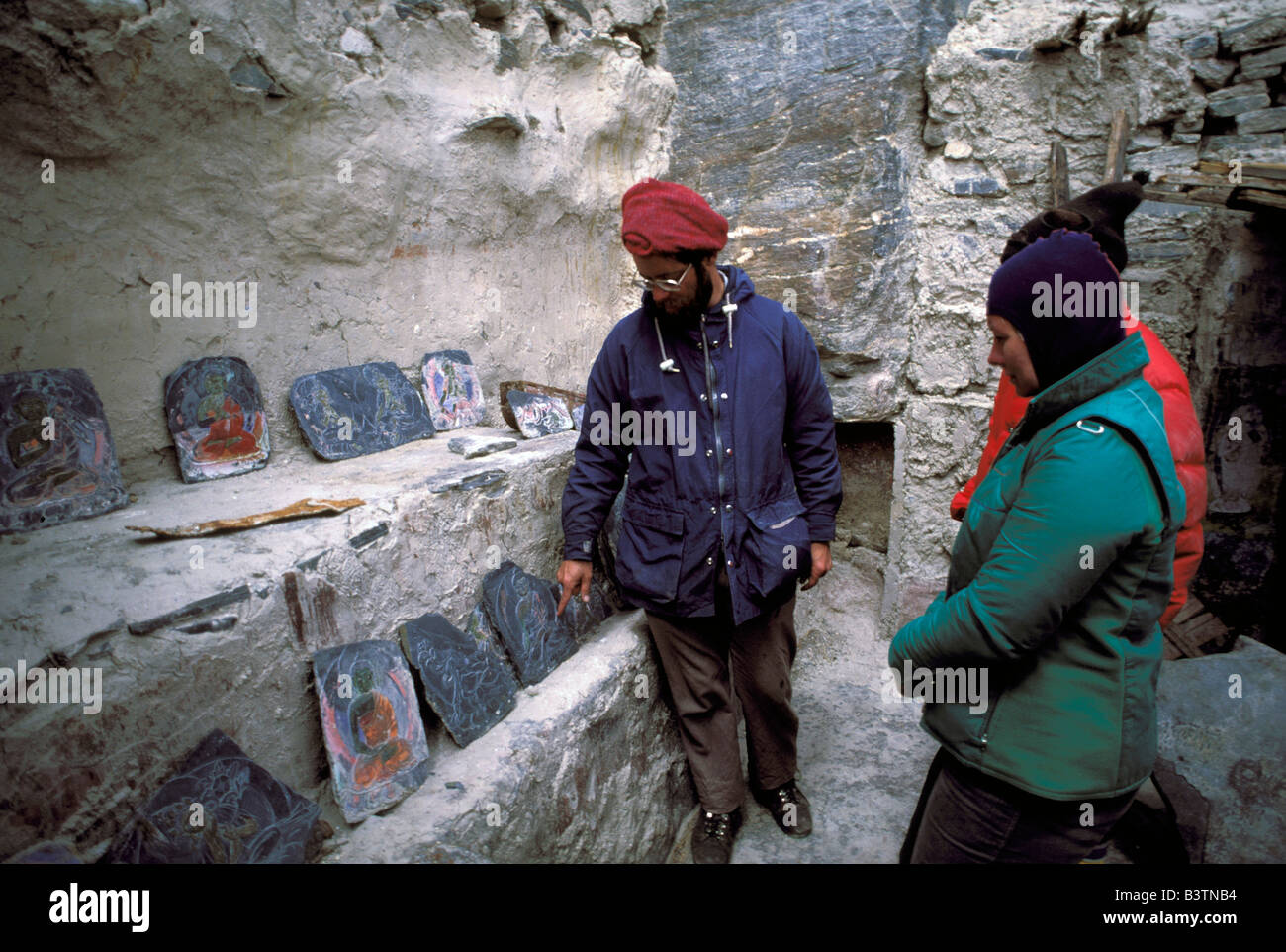 Tibet, Shigatse. Rongbuk Monastery, Buddhist relics. - Stock Image