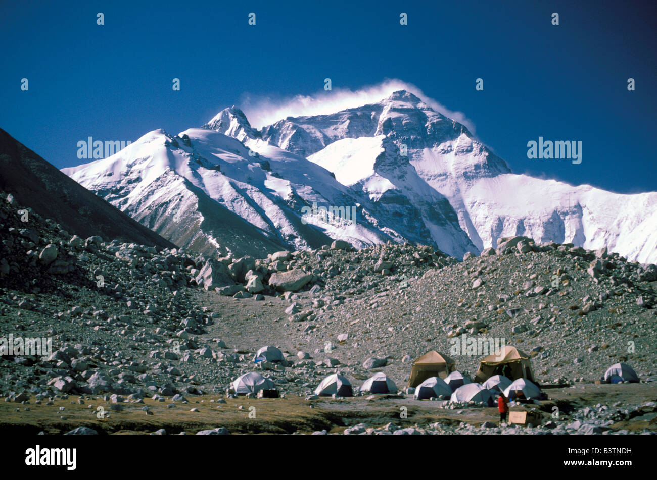 Tibet. Mt. Everest phase camp. - Stock Image