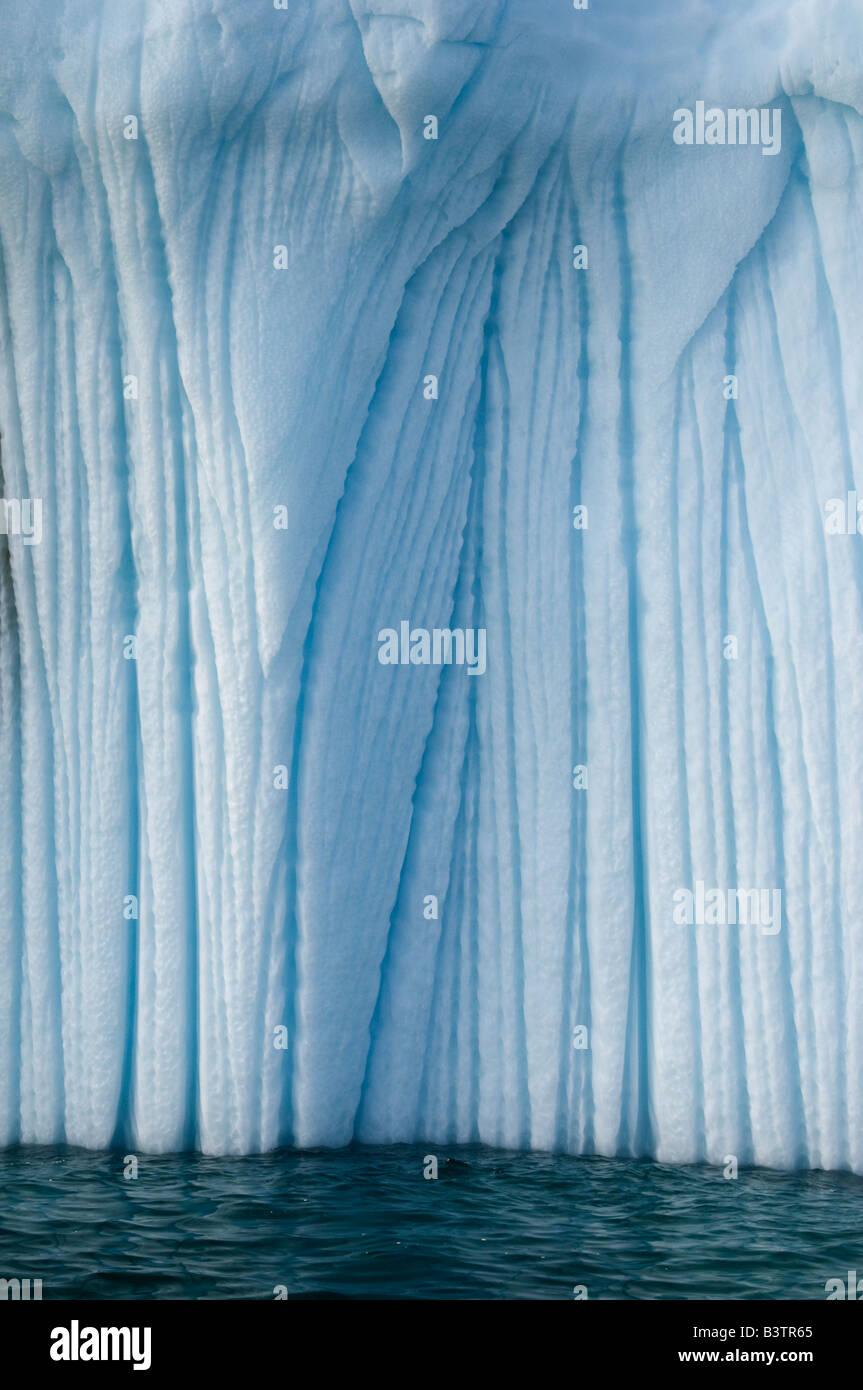 Canada, Arctic, Baffin island, Iceberg, Detail, Lower Savage Islands - Stock Image