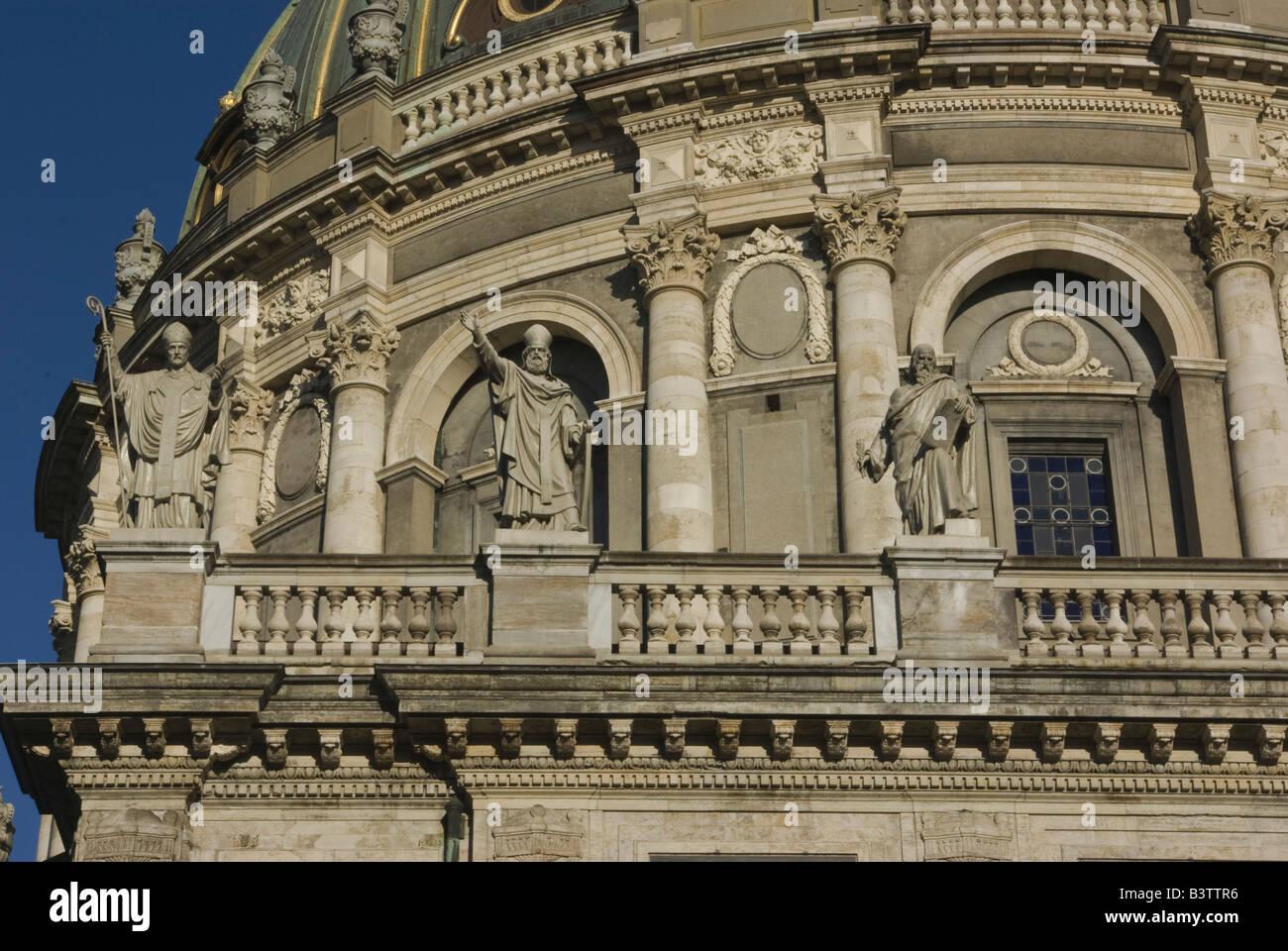 Europe, Denmark, Copenhagen, Frederik's Church, known as the Marble Church - Stock Image
