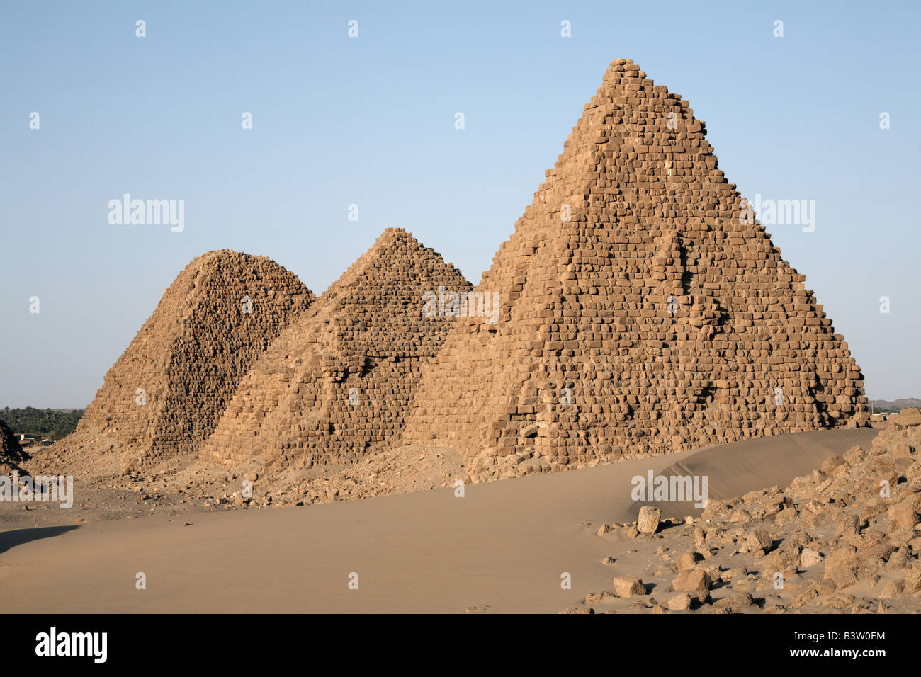 Royal cemetery of Nuri, Karima, Sudan Stock Photo