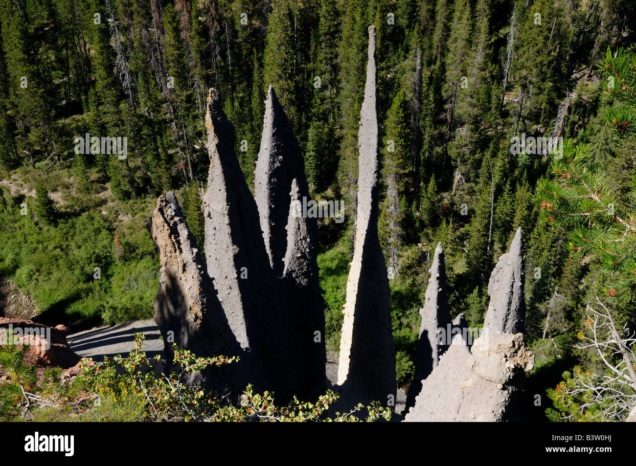 The Pinnacles. The Crater Lake National Park, Oregon, USA. - Stock Image
