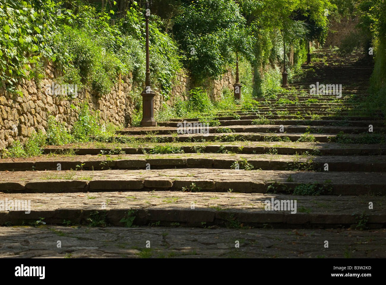 Stairway in Volterra Tuscany Italy Stock Photo